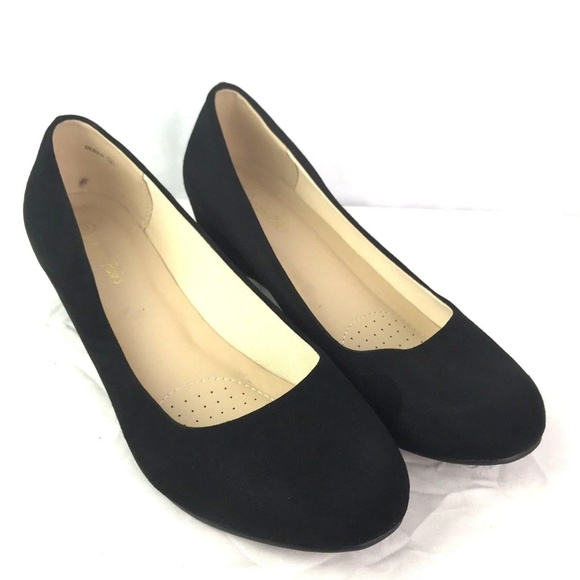 e2c58aa7a4d Dream Pairs Shoes - DREAM PAIRS Vegan Leather Suede Wedge